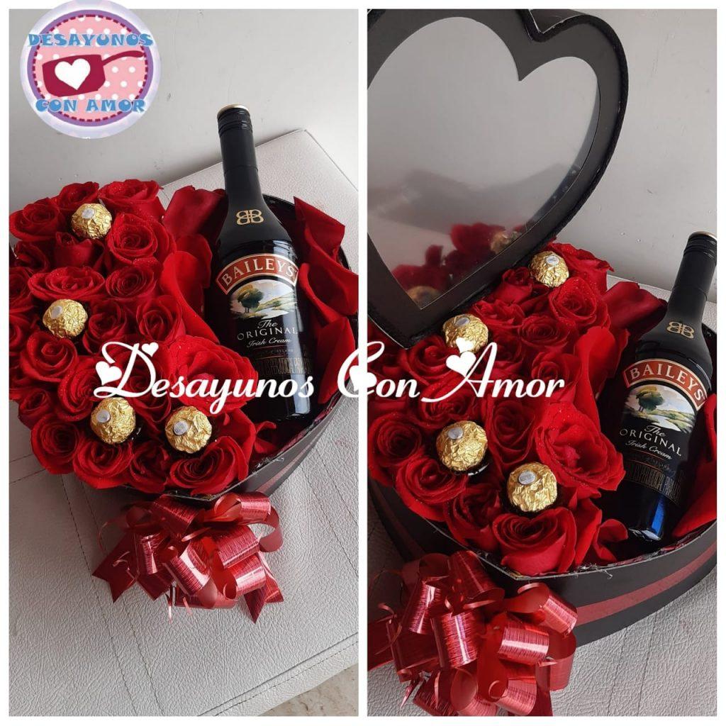 corazon en Rosas Floristeria Cali