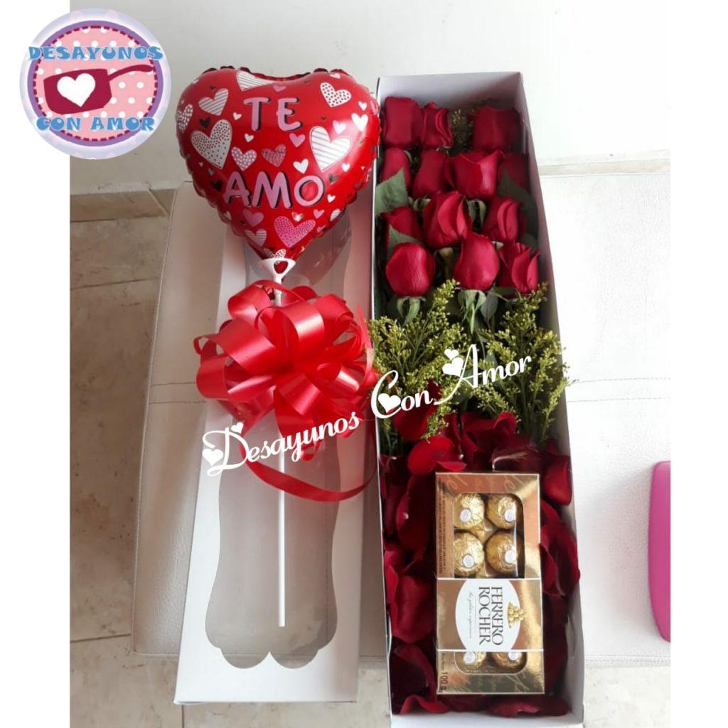 Caja De Rosas Te Amo Cali